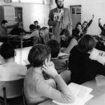 So sah es 1970 im Unterricht aus.